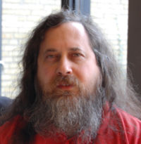 Richard Stallman. Fotograf: Bill Ebbesen