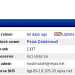 Netcraft tycker vi är 1337